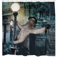 Singing In The Rain Sloth Astaire Shower Curtain