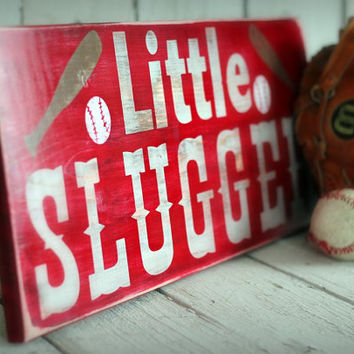 LITTLE SLUGGER BaseballSports Hand painted by MannMadeDesigns4
