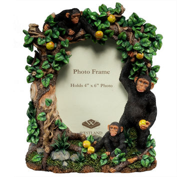 Monkey Chimpanzee Family Picture Frame