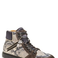 Men's MARC JACOBS 'Atomic Zip' Snake Print High Top Sneaker