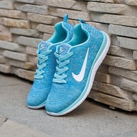 Blue Breathable Sneakers Sport sneakers shoes