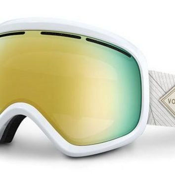 VonZipper - Skylab White Met WGO Goggles, Gold Chrome Lenses