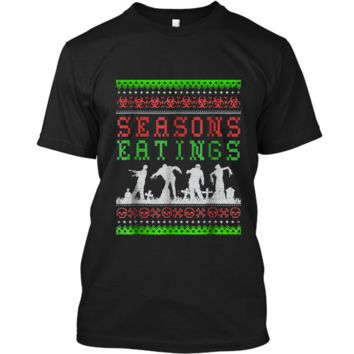 Funny SEASONS EATINGS Zombie Ugly Christmas Sweater  Custom Ultra Cotton