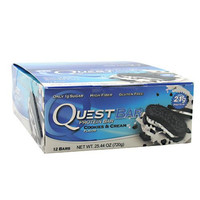 Quest Nutrition Cookies & Cream Quest Bars, 12 Bars