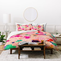 Rebecca Allen Petals And Promises Duvet Cover