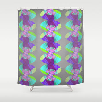 I see flowers Shower Curtain by Olivia James
