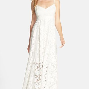 Women's Plenty by Tracy Reese 'Aria' Lace & Eyelet Maxi Dress