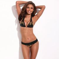 Fireworks Sequins Triangle Bikini Set