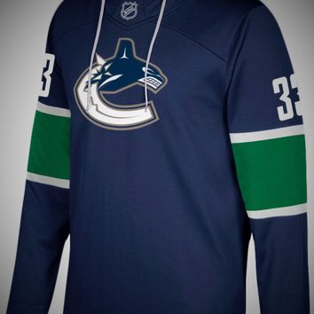 Vancouver Canucks Adidas NHL Hockey Jersey Style Hoodie