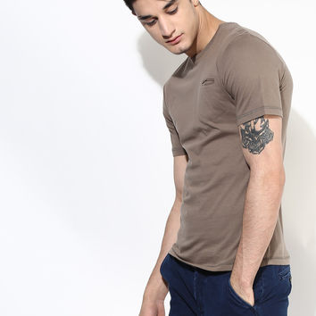 Slim Fit Pocket T-Shirt: Stone