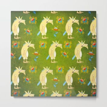 Flowers & Unicorns Metal Print by That's So Unicorny