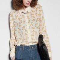 "ROMWE | Retro ""Small Funny Leopard"" Shirt, The Latest Street Fashion"