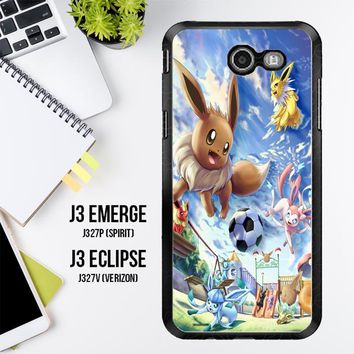 Eevee And Umbreon And Espeon X0915 Samsung Galaxy J3 Emerge, J3 Eclipse , Amp Prime 2, Express Prime 2 2017 SM J327 Case