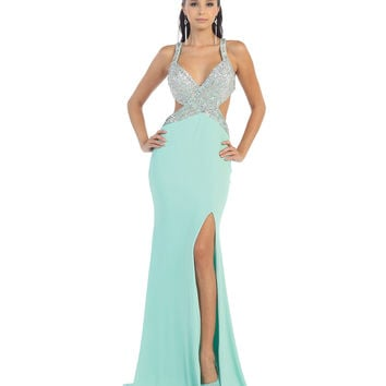 Sexy Seafoam Green Gown 2015