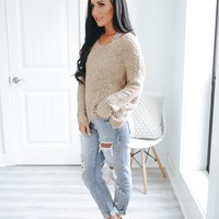 Make It Last Sweater - Taupe