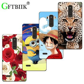 Super Cartoon Pattern Cover For LG Optimus G4 H815 H810 H811 VS986 LS991 F500 Case Despicable Me 2 Painted Animal Shell Coque