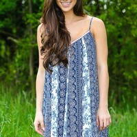 Ready To Party Dress-Navy