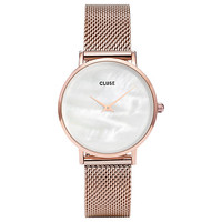 Buy CLUSE CL30047 Women's Minuit La Perle Mesh Bracelet Strap Watch, Rose Gold/White | John Lewis