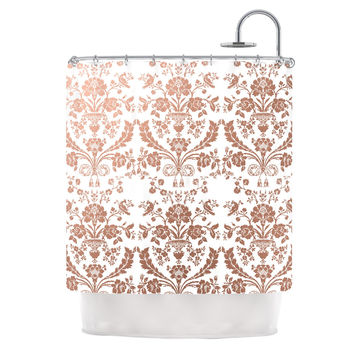 "KESS Original ""Baroque Rose Gold"" Abstract Floral Shower Curtain"