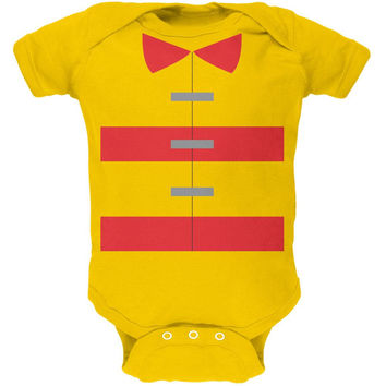 Halloween Fireman Costume Yellow Soft Baby One Piece