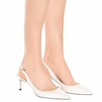 Erin 60 patent leather slingback pumps