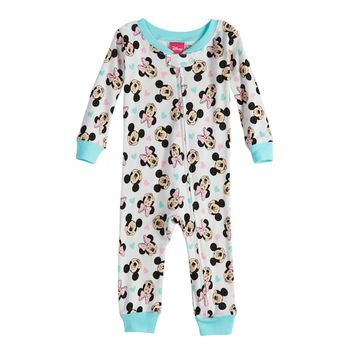 Disney's Minnie Mouse Baby Girl Footless Pajamas