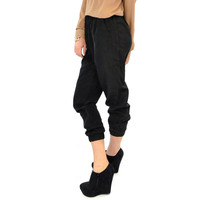 SZ LARGE Haute Heritage Black Relaxed Jogger Pants