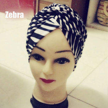 Hot Sale Premium Unique Indian Style Stretchable Turban Chemo Headwrap Hair Head Wrap Cap Cover