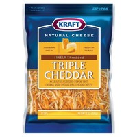 Kraft® Natural Finely Shredded Triple Cheddar Cheese - 8oz