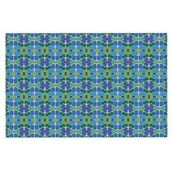 "Empire Ruhl ""Sea Glass"" Decorative Door Mat"