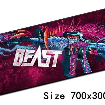 cs go mouse pad 700x300x3mm pad to mouse notbook computer mousepad locked edge gaming padmouse gamer to laptop mouse mat