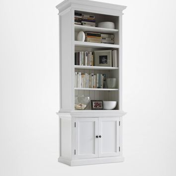 Halifax Single - Bay Hutch Unit White semi-gloss