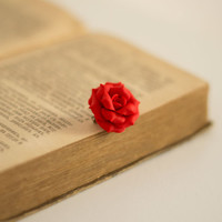 Red Rose Brooch. Polymer Clay Rose Brooch. Red Flower Brooch. Floral Accessory. Gift for Women