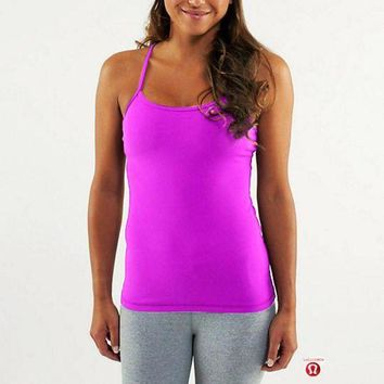 DCCKU3N Lululemon Fashion Strap Solid Gym Yoga Sport Vest Tank Top Cami