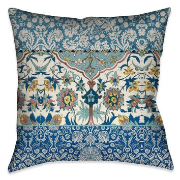Royal Blue Bohemian Tapestry Outdoor Decorative Pillow