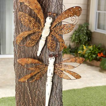 Dragonfly or Butterfly Wall Art Vintage Inspired Re-purposed Spindle Body