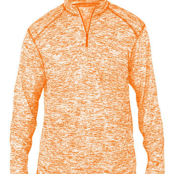 Badger 4192 Blend 1/4 Zip - Burnt Orange Blend