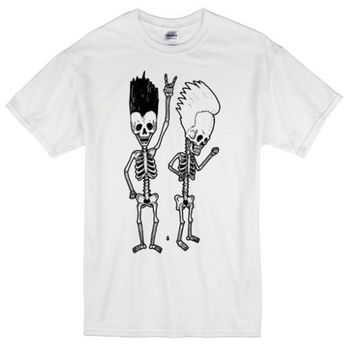 Beavis And Butthead Rock Skeleton Custom Men's Gildan Adult T-Shirt