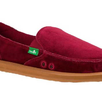 Sanuk Donna Velvet Rumba Red Sidewalk Surfers