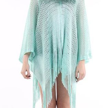 Poncho Woven Sheer Coverup
