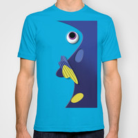 Dory the Ornamental Blue Fish Disney Finding Nemo Adult Tee T-shirt by Three Second