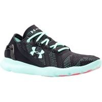 Under Armour Women's SpeedForm Apollo Vent Running Shoes - Black/Blue | DICK'S Sporting Goods