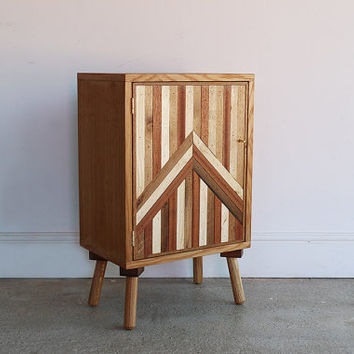 Vintage Bed Side Cabinet | Abstract Sideboard | Retro Cabinet | One Off | Bed Side Table | Office Storage | Rustic Handmade