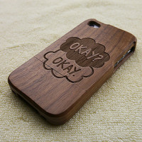 The Fault in our stars iPhone 4S case, Wood iPhone 4 case, john green iPhone 4 case, quotes iPhone 4S case, wooden iPhone case, W1014