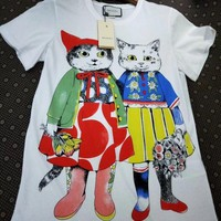 """""""Gucci"""" New Fashion Hot letters print T-shirt top White"""