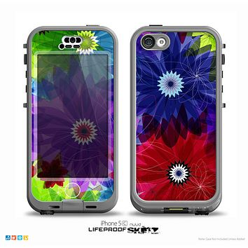 The Boldly Colored Flowers Skin for the iPhone 5c nüüd LifeProof Case