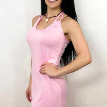 Pink Halter Dress/Swimsuit Cover