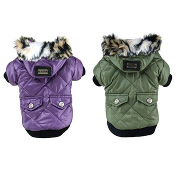 Fur Trimmed Hoodie Dog Clothes & Cat Clothes