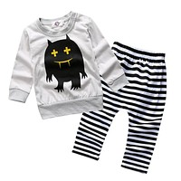 Baby Boy Clothing Spring Kids Baby Clothes T-shirt Pant Cotton Baby Girl Clothes Long Sleeve Newborn Baby Clothes