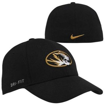 Nike Missouri Tigers Dri-FIT Swoosh Flex Hat - Black